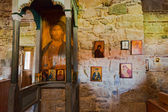 Interior of Zvernec Monastery, Vlora, Albania — Stock Photo