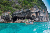 Viking Cave on PhiPhi Leh island, Thailand — Stock Photo