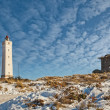 Lighthouse in Blaavand at the Danish North sea coast — Stock Photo