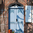 Door on mainstreet in Danish village, Møgeltønder — Stock Photo