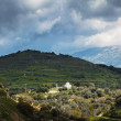 Mountains on Crete with church - ストック写真