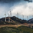 Wind Turbines in the mountains — Stock Photo