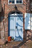 Door on mainstreet in Danish village, Møgeltønder — Stock Photo