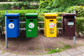 Recycling litter bins — Stock Photo