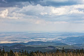 Panoramic landscape in from Brocken in Harz, Germany — Stock Photo