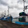 Stock Photo: Fishing boats in Danish harbour