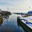 Stock Photo: Ribe river seen from Kammerslusen lock gate, Denmark