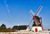 Windmill on Mando, Ribe, Denmark — Stock Photo