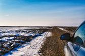 Wadden sea road to the island Mando, Denmark — Stock Photo