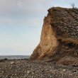 Cliffs of clay on the Danish island, Fur - Stock Photo