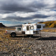 Thormork, Iceland. Wildlife camping. — Stock Photo