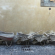 Stock Photo: Wheelbarrows in Orvieto