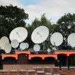 Satellite dishes on telecommunication center — Stock Photo #8883086