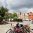 Flowers in Salt Square - Wroclaw,  Poland — Stock Photo