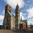 kathedraal in ribe, Denemarken — Stockfoto