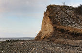 Cliffs of clay on the Danish island, Fur — Stock Photo
