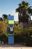 Public telephone booth in Spain — Stock Photo