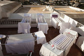 White laundry, drying — Stock Photo