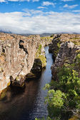Thingvellir National Park - famous area in Iceland — 图库照片