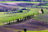 Tuscan landscape from the walls of Pienza — Stock Photo