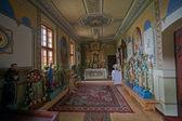 Interior of wooden church in Jurgów,, Poland — Stock Photo