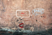 Grafitti on a polish wall — Stock Photo