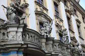 Detail on front of the university, Wroclaw, Poland — Stock Photo