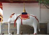 храм белого слона — Стоковое фото