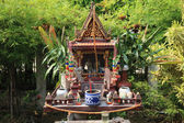 Outdoor Buddhist altar — Stock Photo