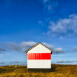 Cottage on Esbjerg Harbor, red and white — Stock Photo