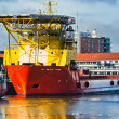 Oil Supply vessels in Esbjerg harbor, Denmark — Stockfoto #9095814