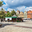 Flowers in Salt Square - Wroclaw,  Poland - Stock Photo