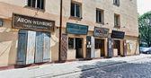 Szeroka Street pre-war street museum on Kazimierz, the old Jewis — Stock Photo