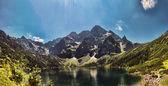 Morskie Oko lake in polish Tatra mountains — Stock Photo