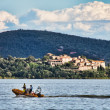 Medieval city of Borgo sul Trasimeno, Umbria, Italy of Borgo sul — Stock Photo