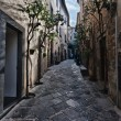 Orvieto, Umbria, Italy, narrow street with small shops — Stock Photo #9335514