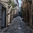 Stock Photo: Orvieto, Umbria, Italy, narrow street with small shops