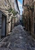 Orvieto, Umbria, Italy, narrow street with small shops — Stock Photo