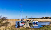 Tradtional fishing fjord boats, Nymindegab, Denmark — Stock Photo