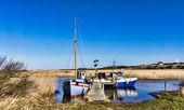 Tradtional fishing fjord boats, Nymindegab, Denmark — Stock Photo
