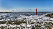 Thorsminde is a small Danish fishing harbour — Stock Photo
