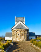 Medeltida danska kyrkan — Stockfoto