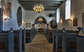 Medieval Danish church, interior — Stock Photo
