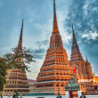 Wat Pho temple, Bangkok, Thailand - Foto Stock