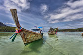 Longboats on Phi Phi Island Thailand — Stock Photo