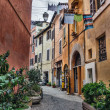 Laundry in Trastevere district of Rome, Italy — Stock Photo #9692640