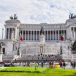 Vittorio Emanuele II on the the Piazza Venezia in Rome — Stock Photo