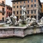 Poseidon fountain , Navona square Rome — Stock Photo #9766303