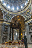 Interior of St Peter's Basilica in Rome — Stok fotoğraf