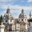 Trajan's Column and church in Rome, Italy — Stock Photo